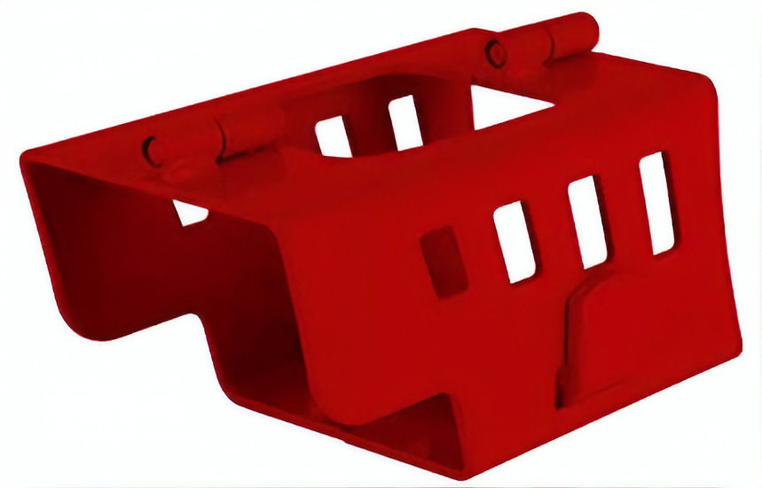 disselslot 21 x 11 x 11 cm rood staal