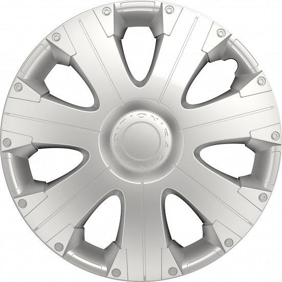 wieldoppen Racing 14 inch ABS zilver set van 4