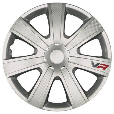 wieldoppen VR 14 inch ABS zilver set van 4