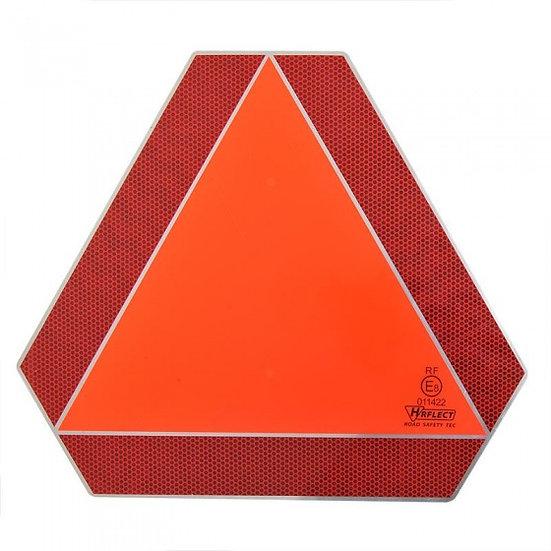 markeringsbord Langzaam verkeer 41 cm rood/oranje