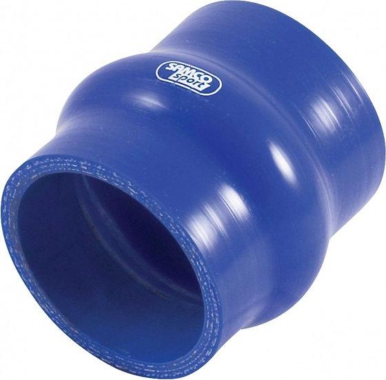 siliconen balgslang Ø45mm 76mm recht blauw