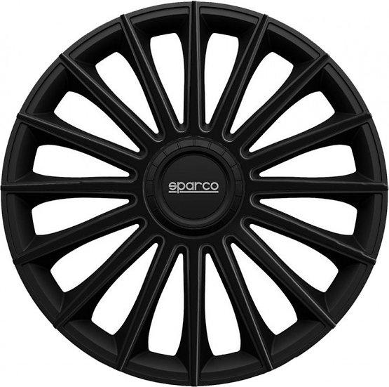 wieldoppen Torino 13 inch ABS zwart set van 4