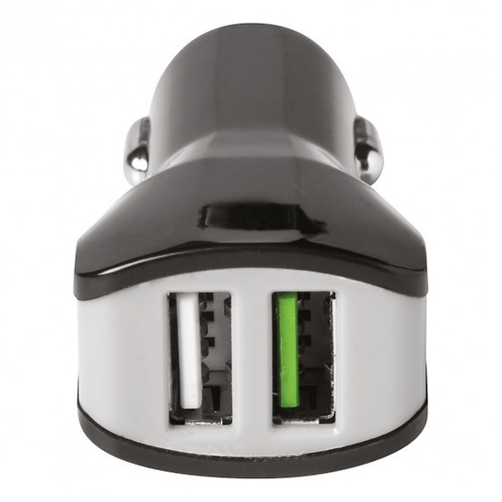 autolader dual USB 12/24V 3.4A zwart