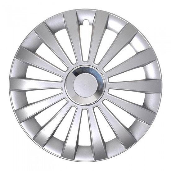 wieldoppen Meridian 15 inch zilver set van 4