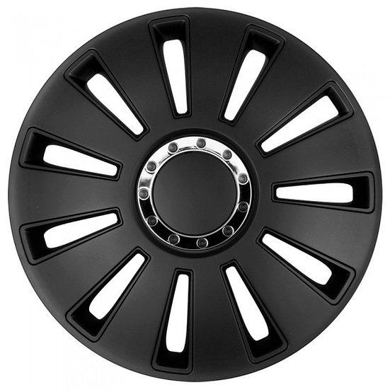 wieldoppen Silverstone Pro 17 inch ABS zwart set van 4