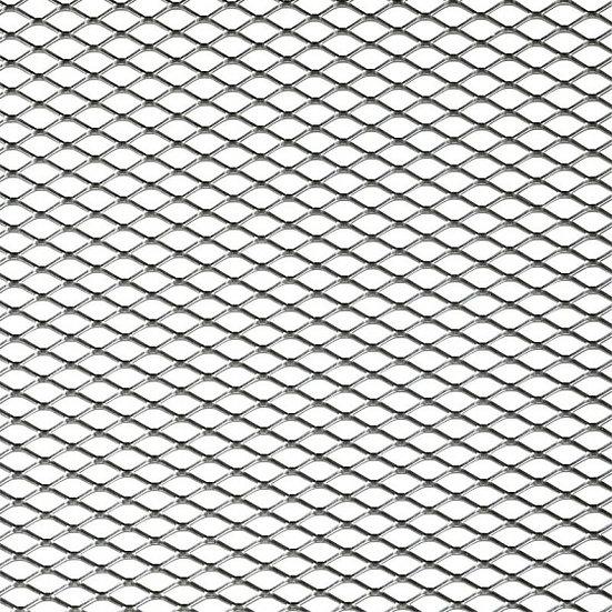 racegaas ruitvormige maas 125x25 cm (11x5 mm) zilver