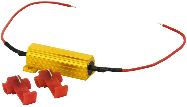 Can-bus weerstand 50 W 6 ohm 12 V rood