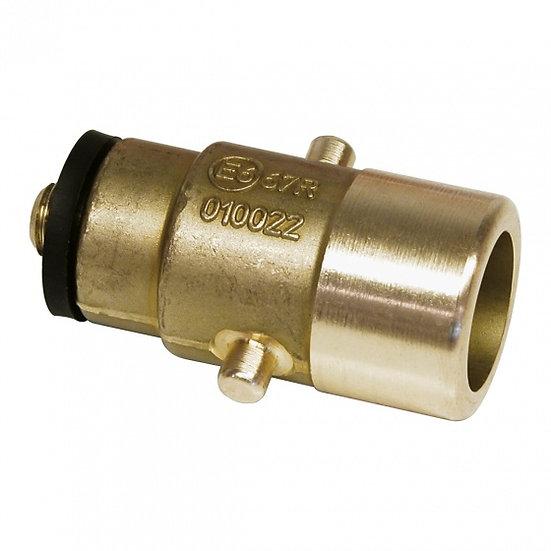 LPG-nippel Bajonet 10 mm messing goud