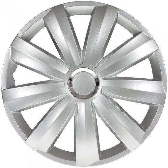 wieldoppen Venture Pro 16 inch ABS zilver set van 4