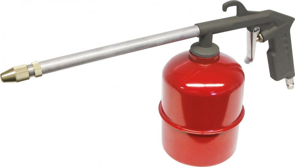 vloeistofpistool aluminium grjis/rood