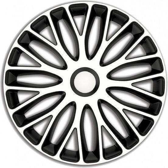 wieldoppen Mugello 14 inch ABS wit/zwart set van 4
