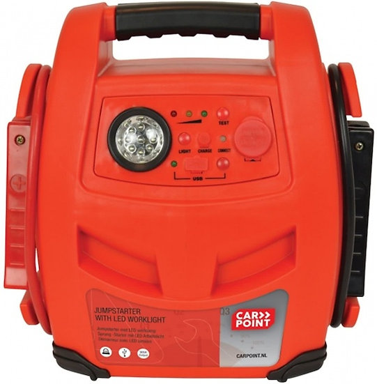 Jumpstarter 900A met led-lamp oranje