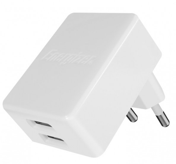 oplader dubbele USB-poort 4.8A voor iPhone/iPad wit