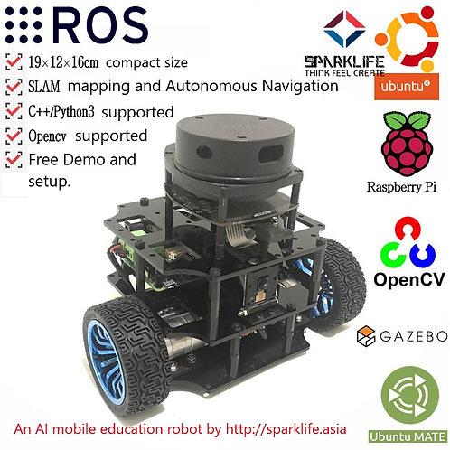 3-Wheel mobile robot with ROS on Ubuntu OS