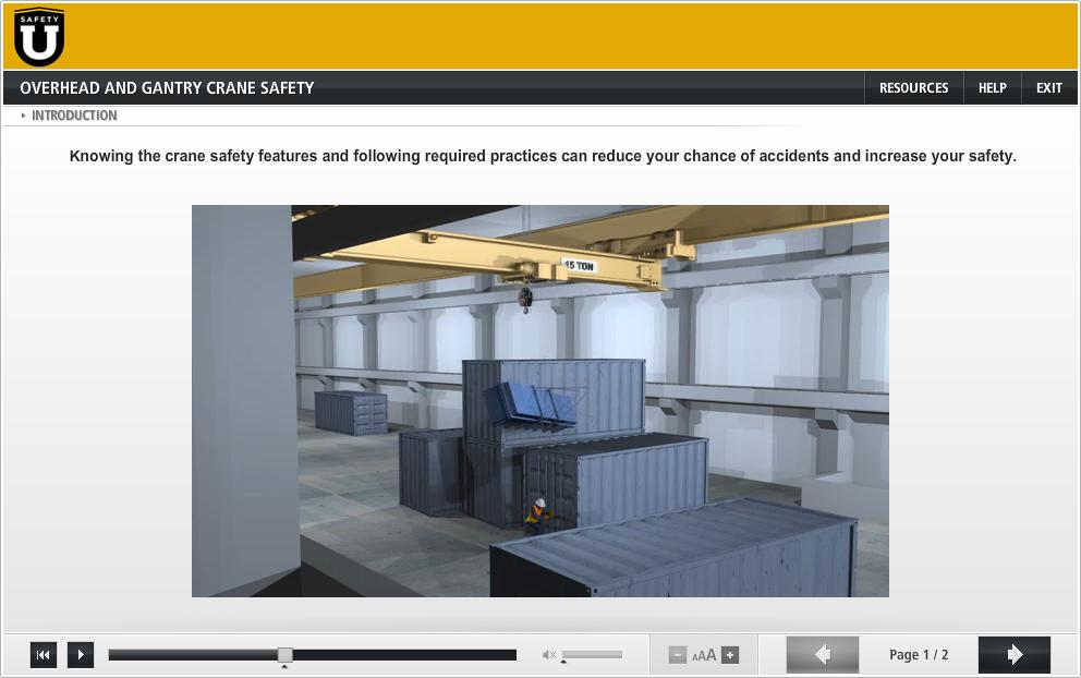Overhead and Gantry Crane Safety - Safety U | ESSG