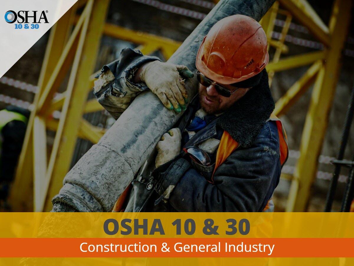 OSHA 10 & 30 Certification Courses