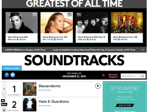 Halo 5 OST is at #2 on Billboard Soundtrack Chart!