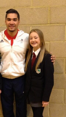 Lily with Louis Smith