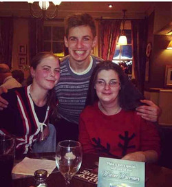 Amber James and Angie xmas meal 13