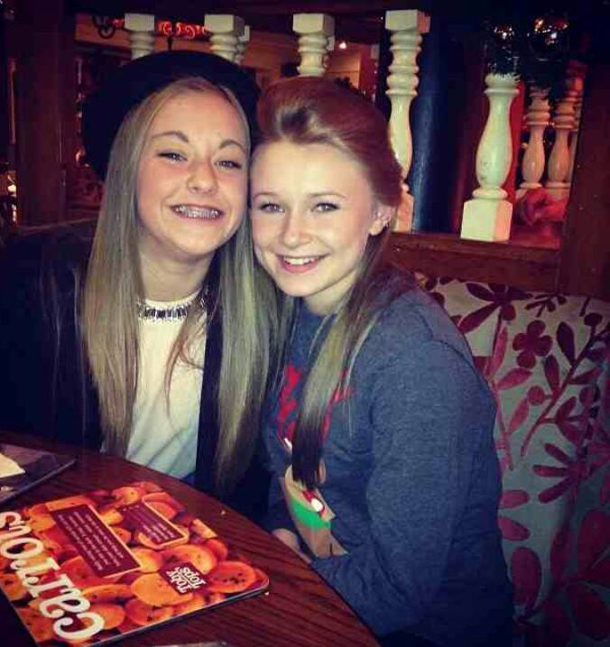 Kayla and Lily xmas meal l13