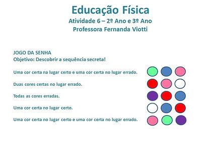 Educação Física - aula 6 (2º e 3º anos).