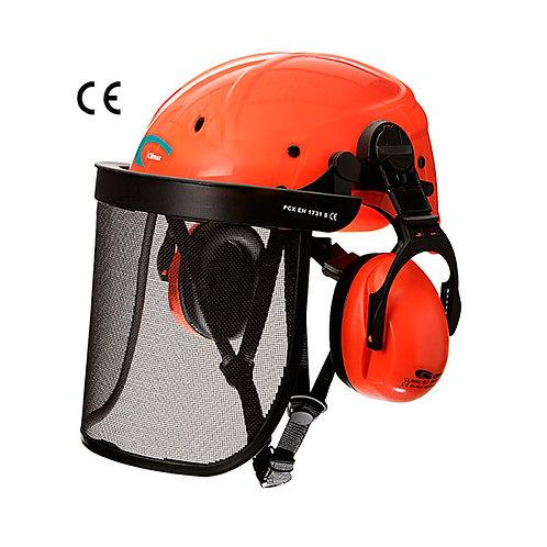 Pantalla con casco Cadi y protector auditivo