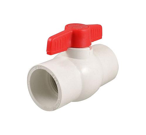 Válvula de PVC de bola lisa
