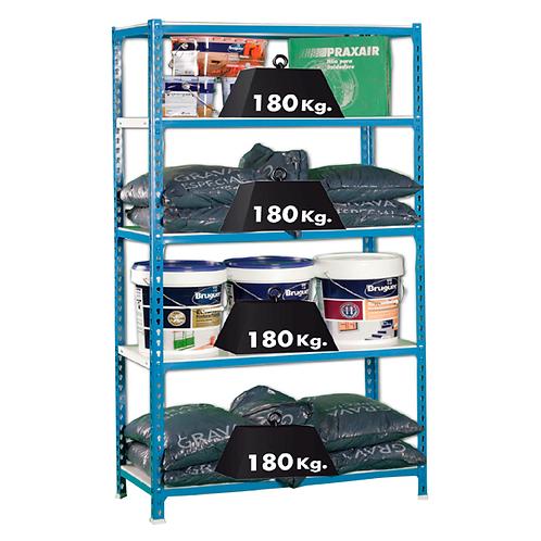 Estantería Azul / Galvanizado de 900x500x1800 mm
