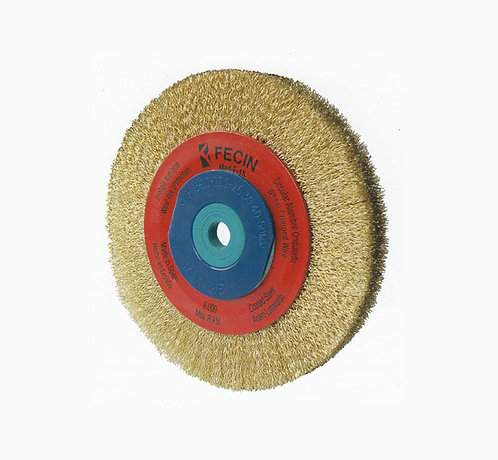 Cepillo Circular Latonado para Esmeril