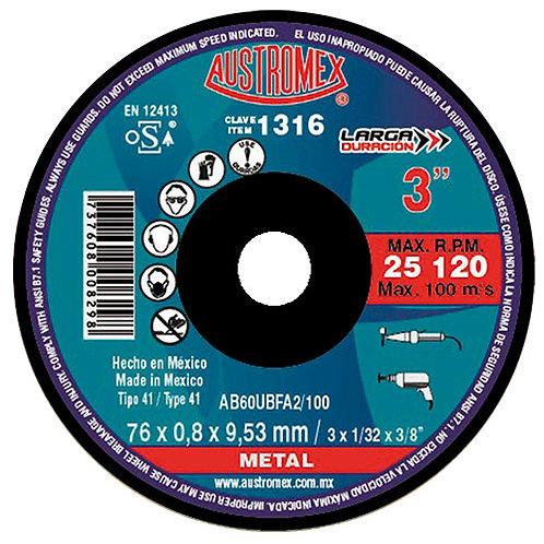Minidisco de Mototool o Taladro para Metal
