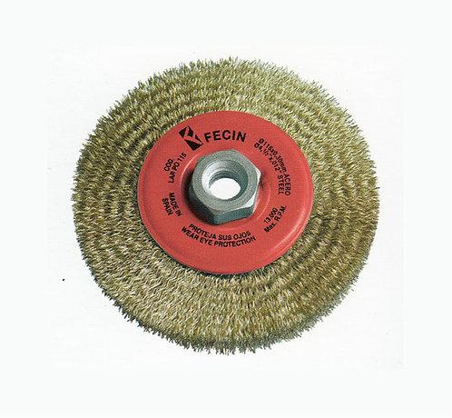 """Cepillo Latonado 4 1/2"""" circular para Pulidora"""