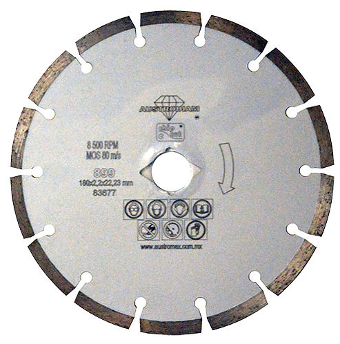 Disco de diamante Chip-Cut para Materiales de Construcción