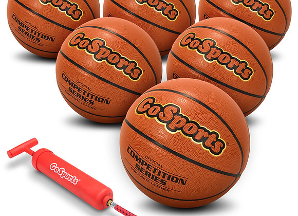 GoSports Competition Series Basketball (6) Pack