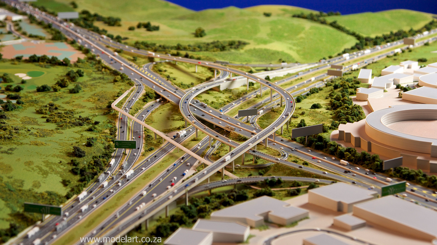 Architectural-Scale-Model-Engineering-Mt Edgecomb Interchange-5