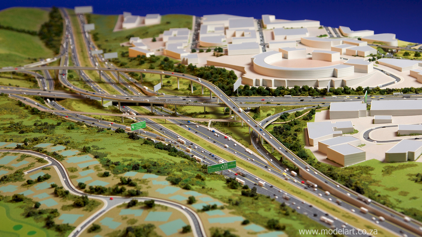 Architectural-Scale-Model-Engineering-Mt Edgecomb Interchange-4