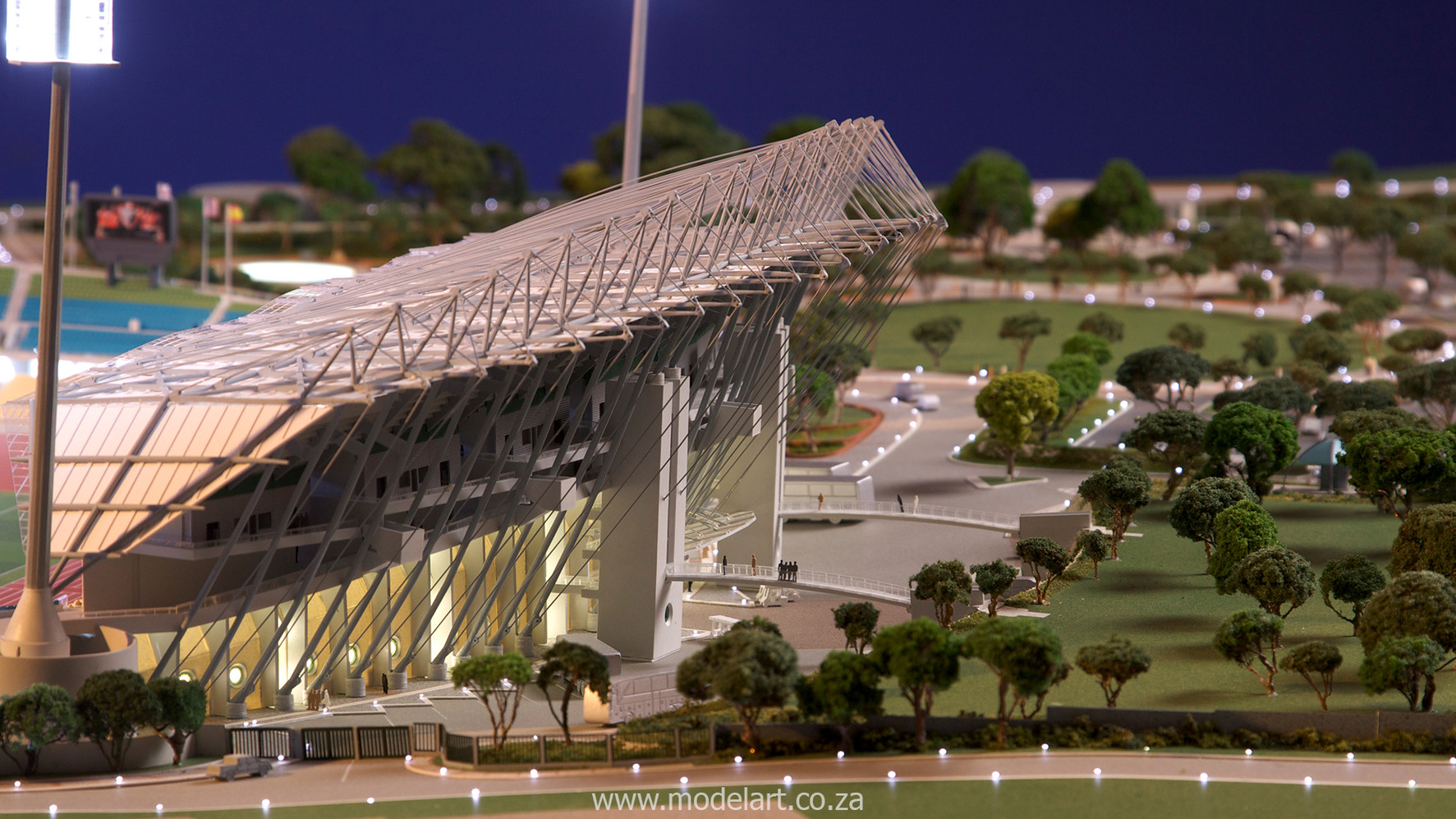 Architectural-Scale-Model-Sports Facilities-Royal Bafokeng Stadium-4