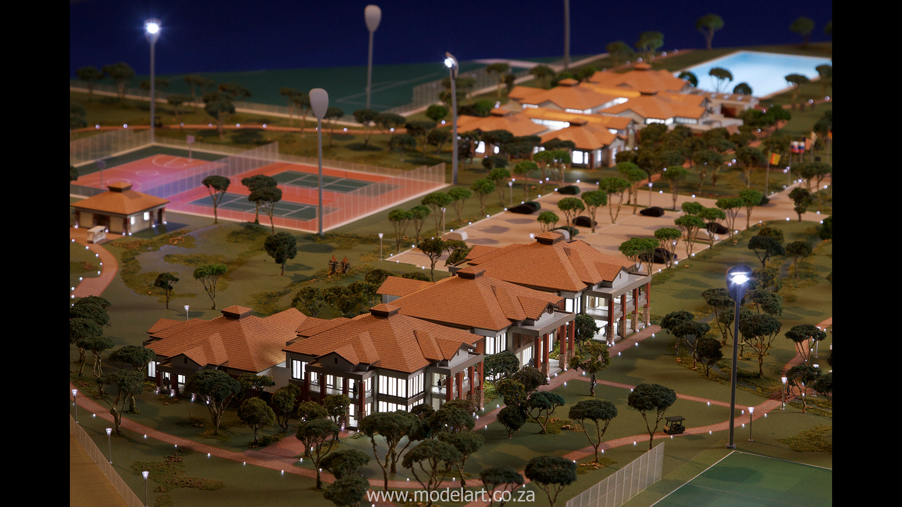 Architectural-Scale-Model-Sports Facilities-Royal Bafokeng Campus 2-3
