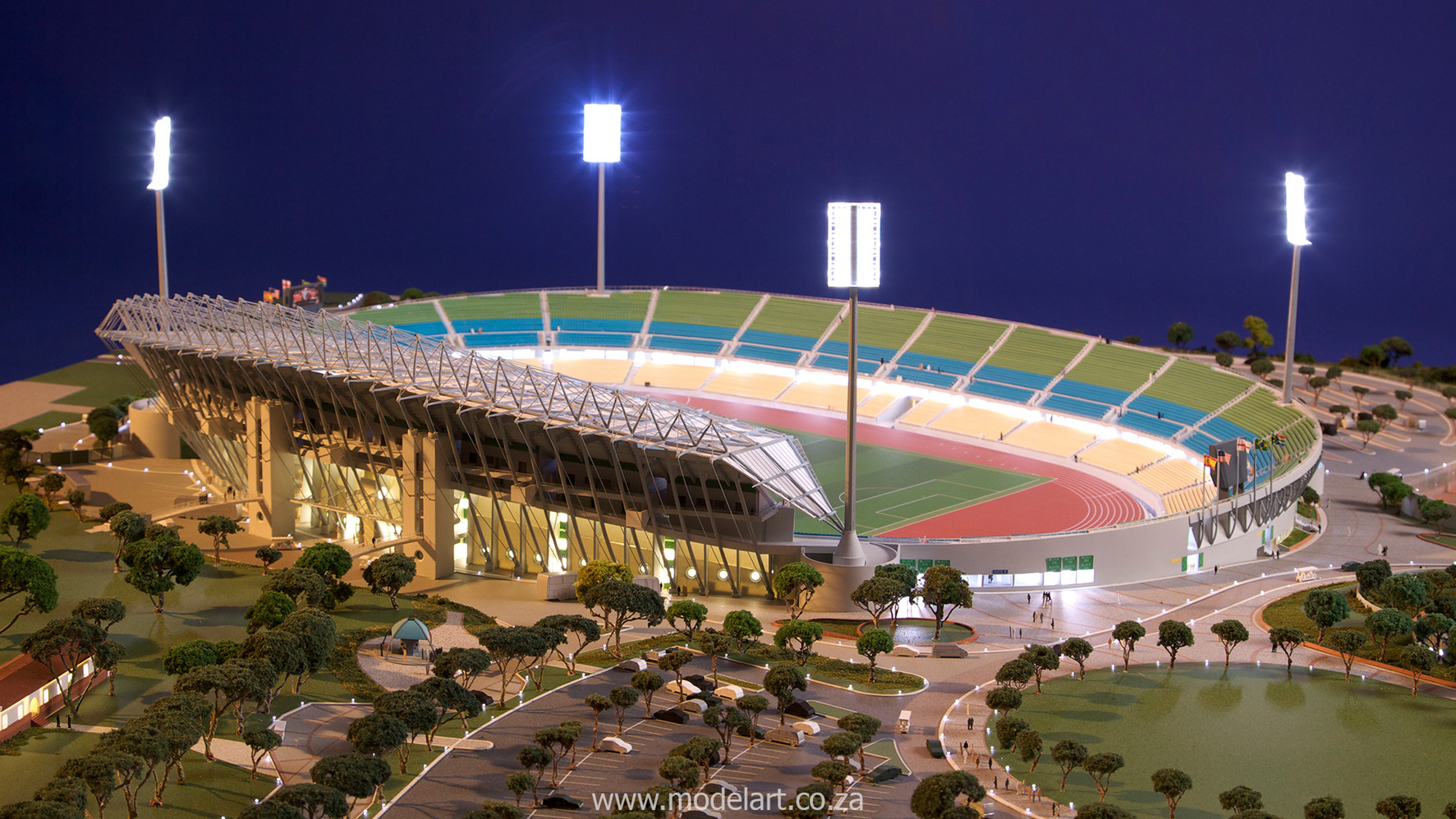 Architectural-Scale-Model-Sports Facilities-Royal Bafokeng Stadium-5