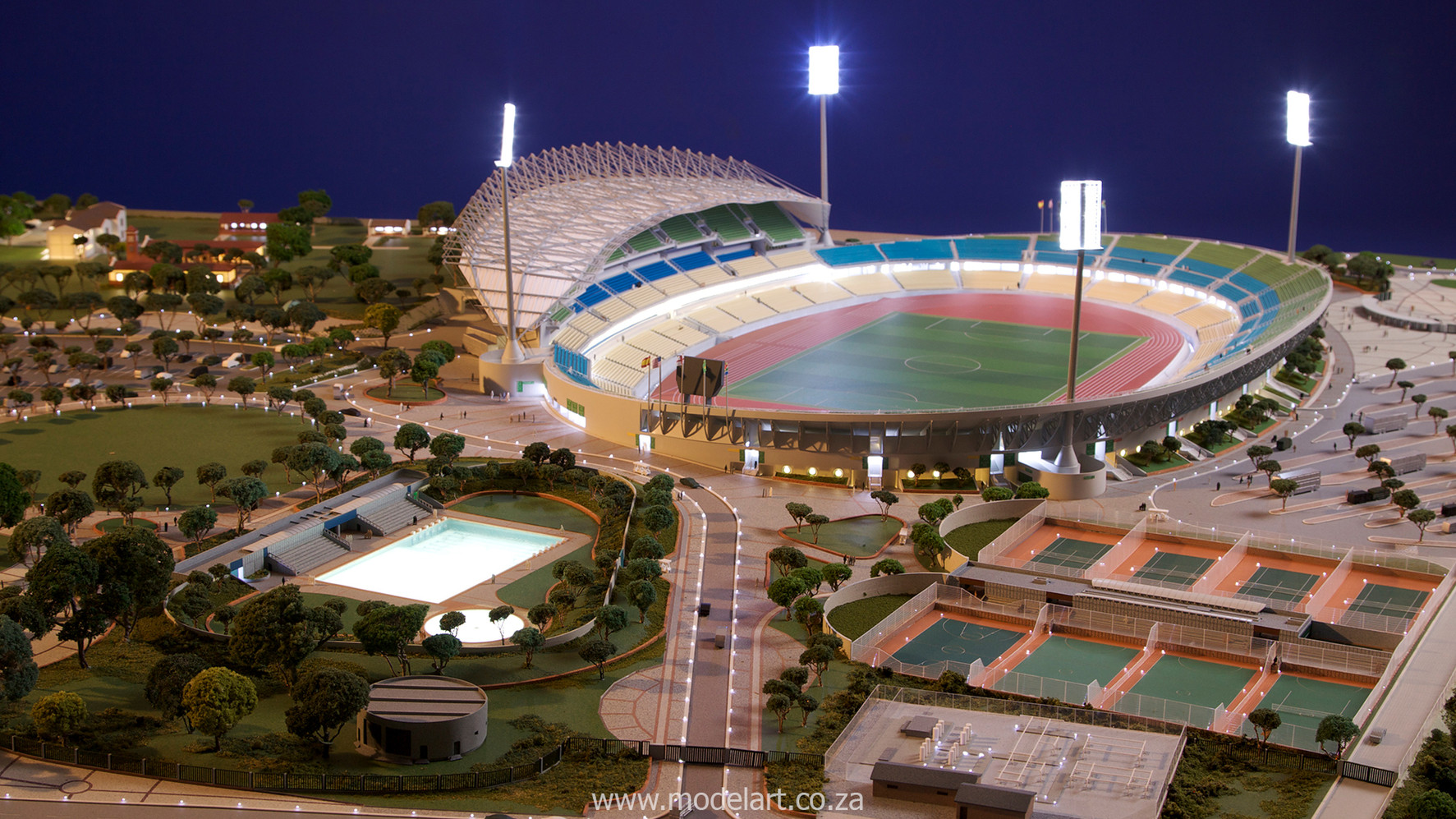Architectural-Scale-Model-Sports Facilities-Royal Bafokeng Stadium-1
