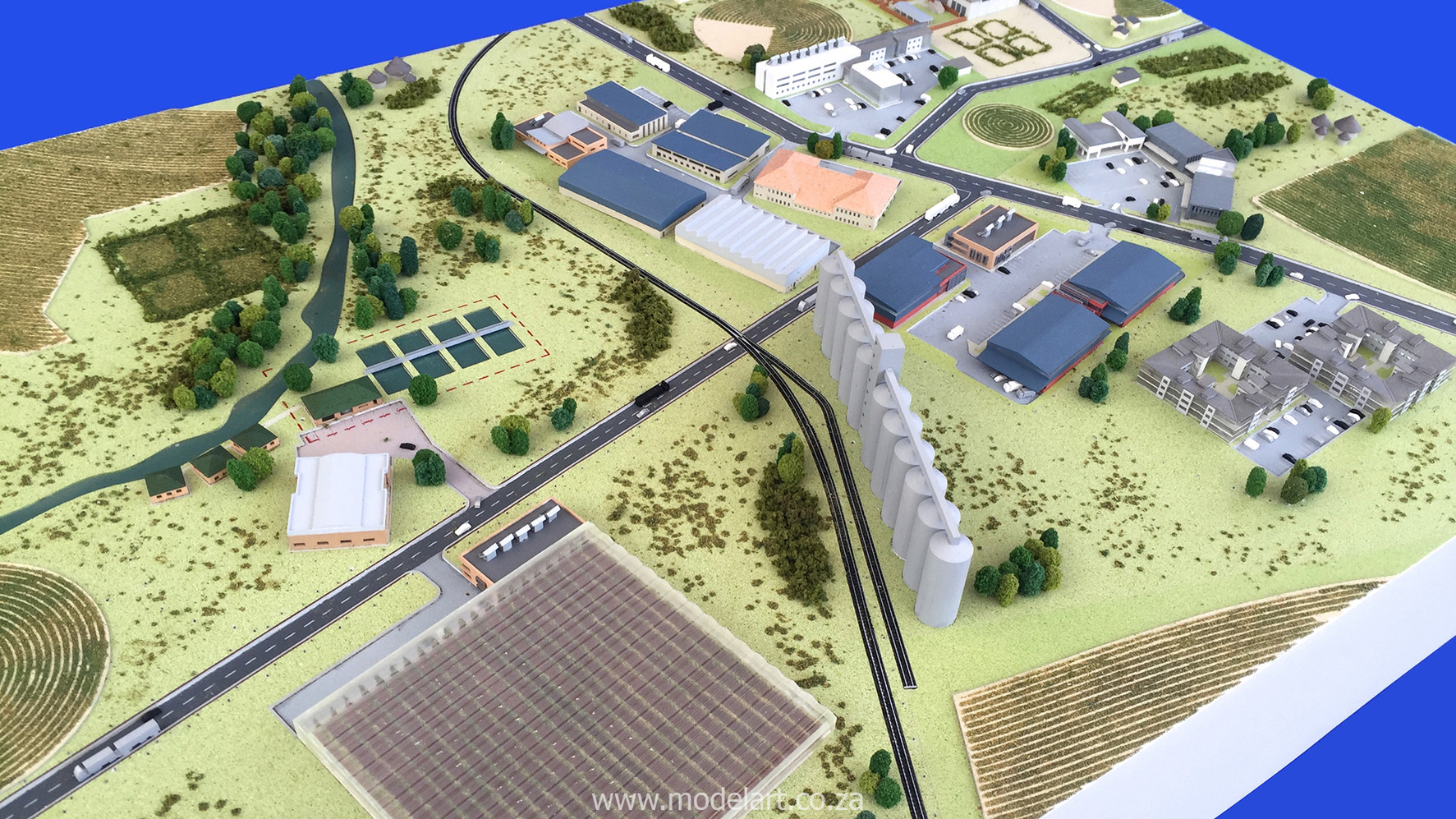 Architectural-Scale-Model-Industrial-Agri Park-3