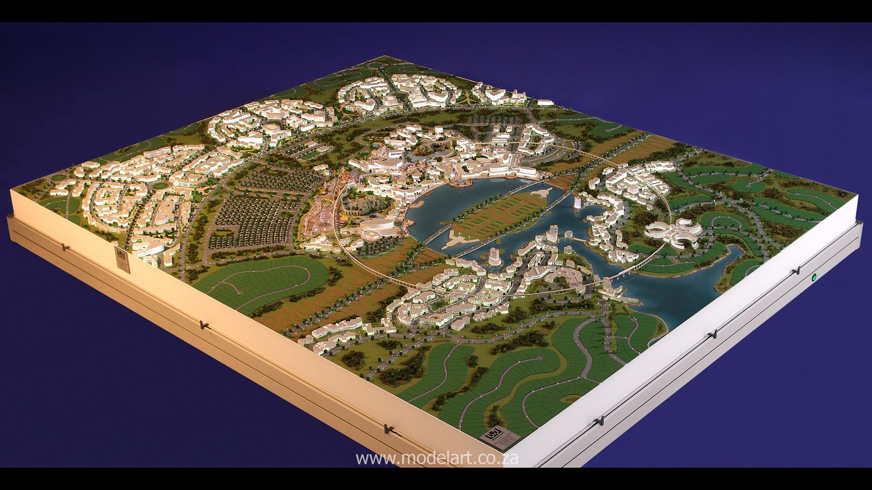 Architect Model-Masterplan-Thukela River Project1