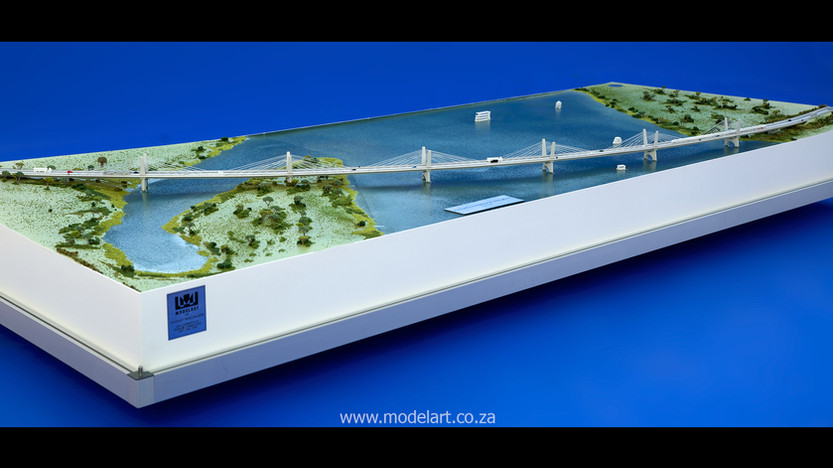 Architectural-Scale-Model-Engineering-Kazangula Bridge-4