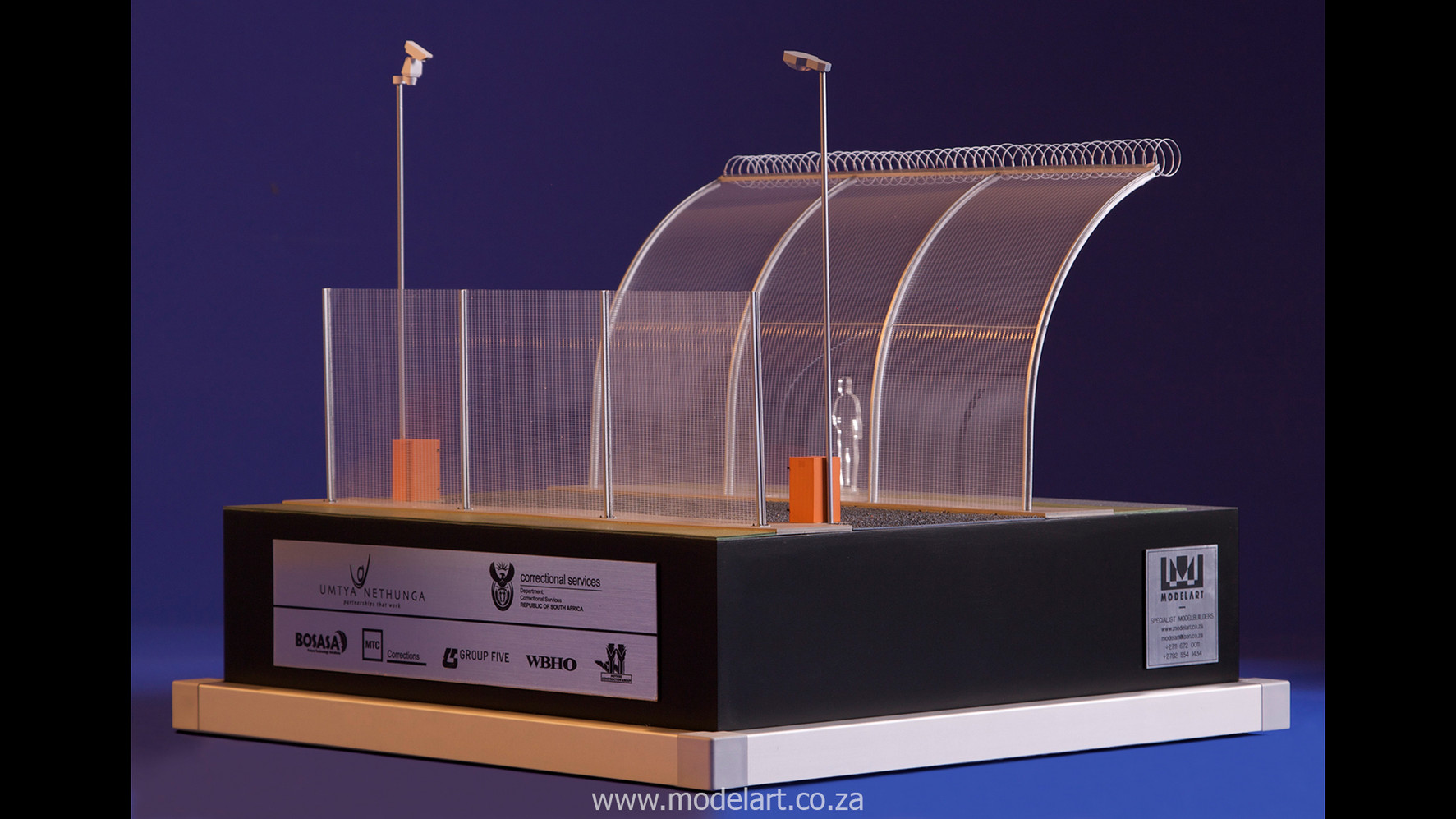 Architectural-Scale-Model-Engineering-Prison Fence-4