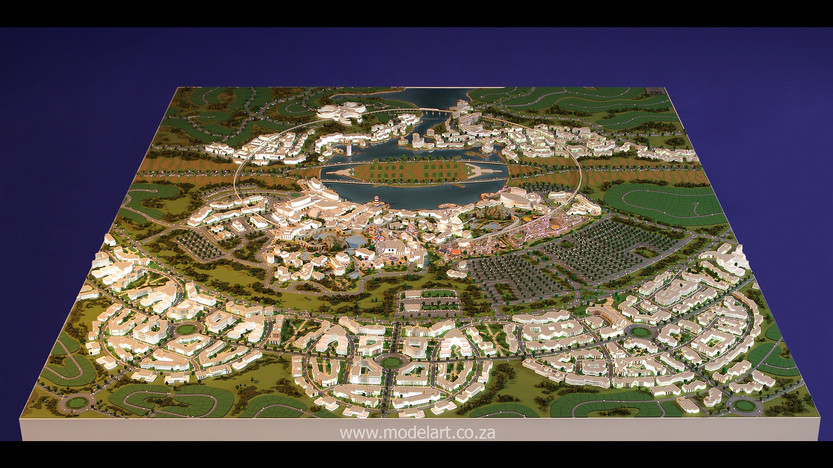 Architect Model-Masterplan-Thukela River Project2