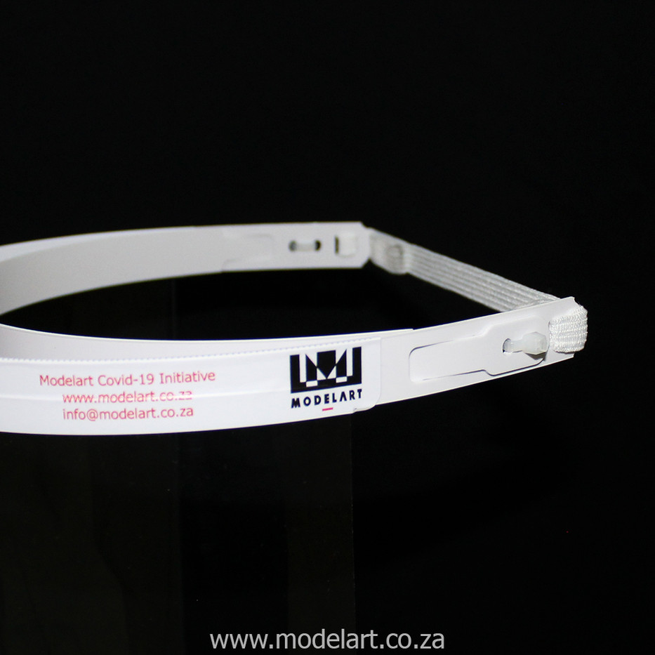 Face Shield - White Elastic - Close-up.j
