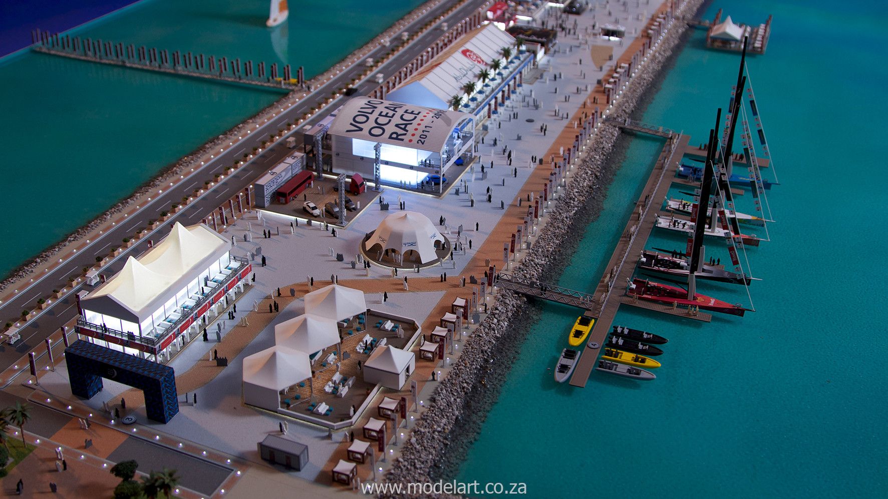 Architectural-Scale-Model-Sports Facilities-Volvo Ocean Race-8
