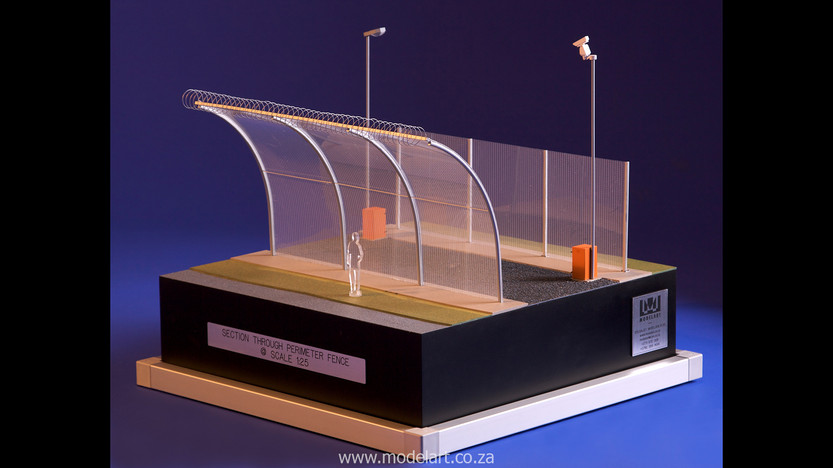 Architectural-Scale-Model-Engineering-Prison Fence-1