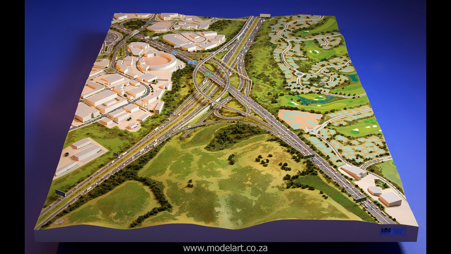 Architectural-Scale-Model-Engineering-Mt Edgecomb Interchange-2