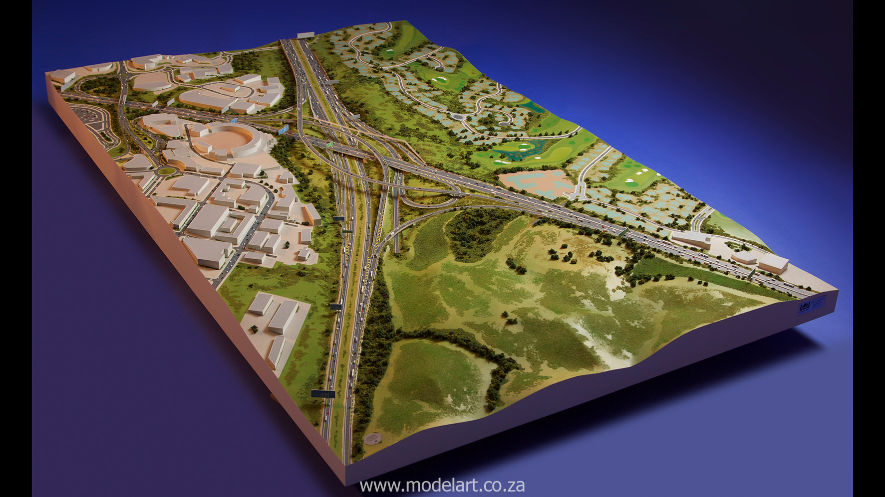 Architectural-Scale-Model-Engineering-Mt Edgecomb Interchange-1