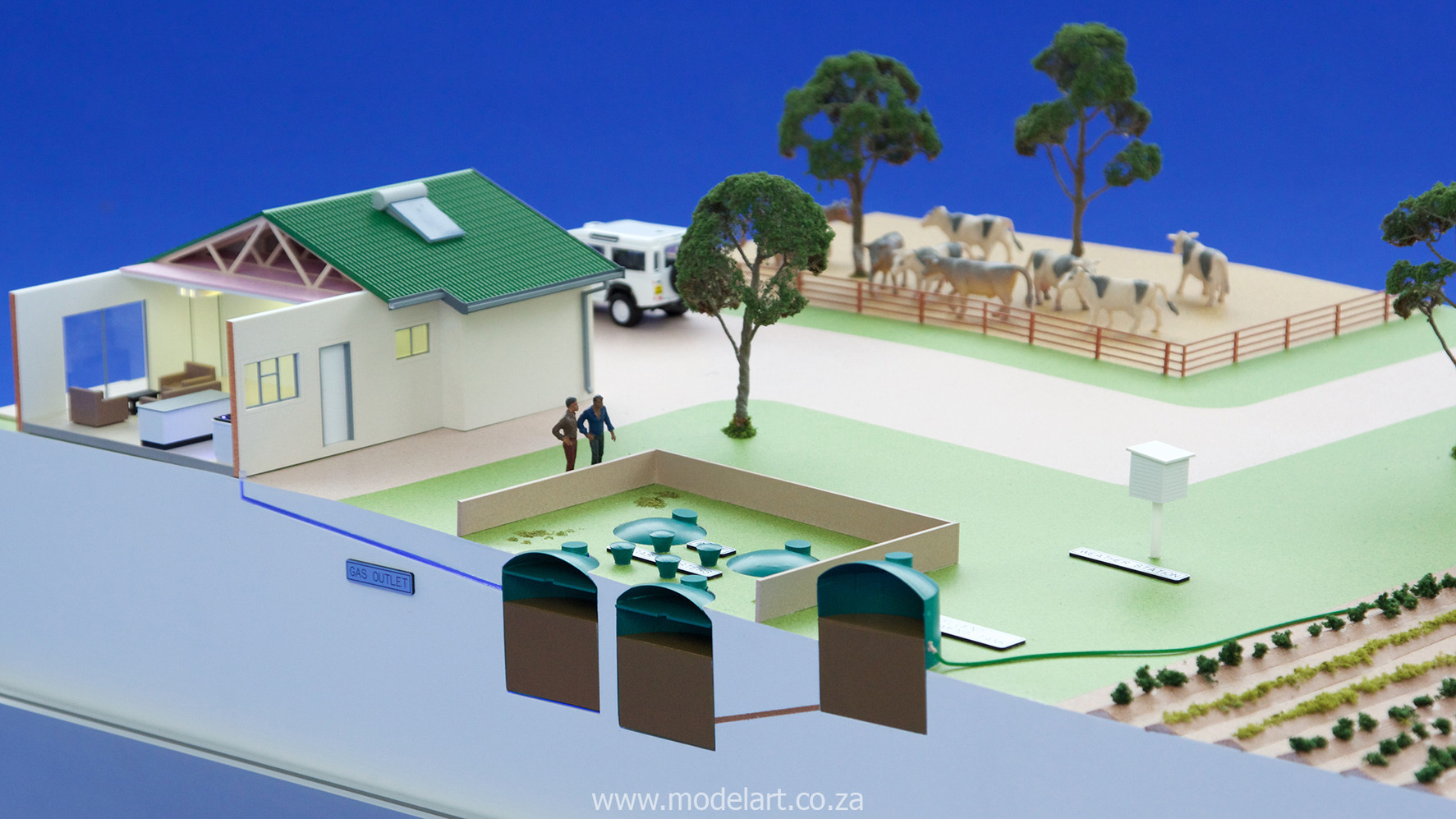 Architectural-Scale-Model-Industrial-Afgri Biogas-6